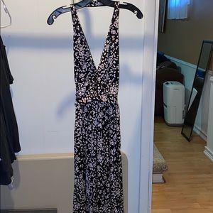 Halter Dress with dotted pattern